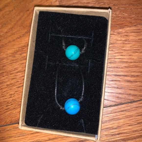 Blue and green stone necklaces